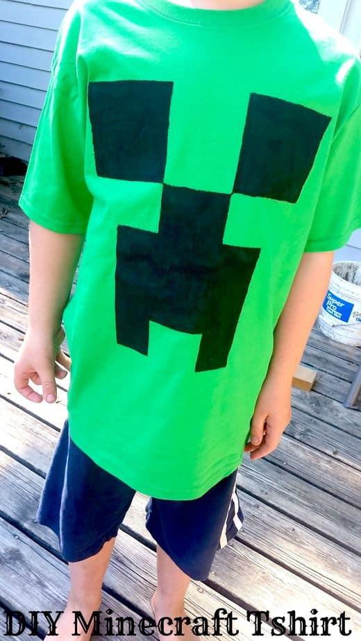 Minecraft Creeper tshirt Tutorial