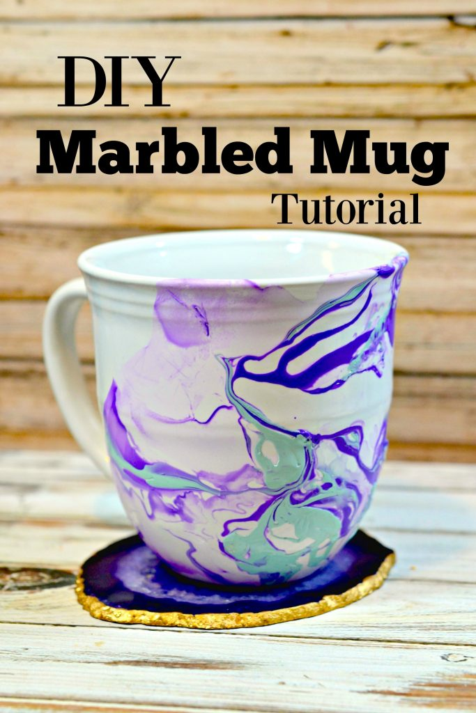 Diy marble mugs tutorial handmade gift surviving a for Coffee mug craft kit