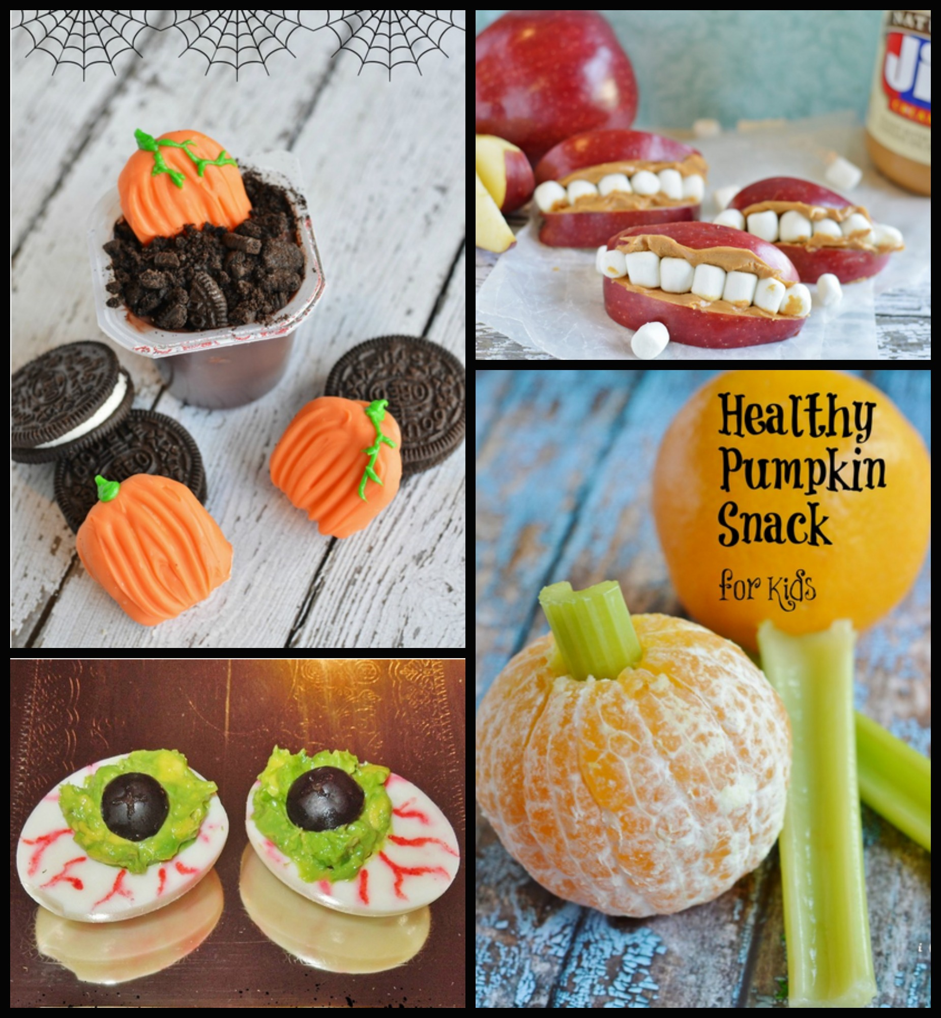 Healthy Halloween Kid's Snack Frankenstein Grape Cup
