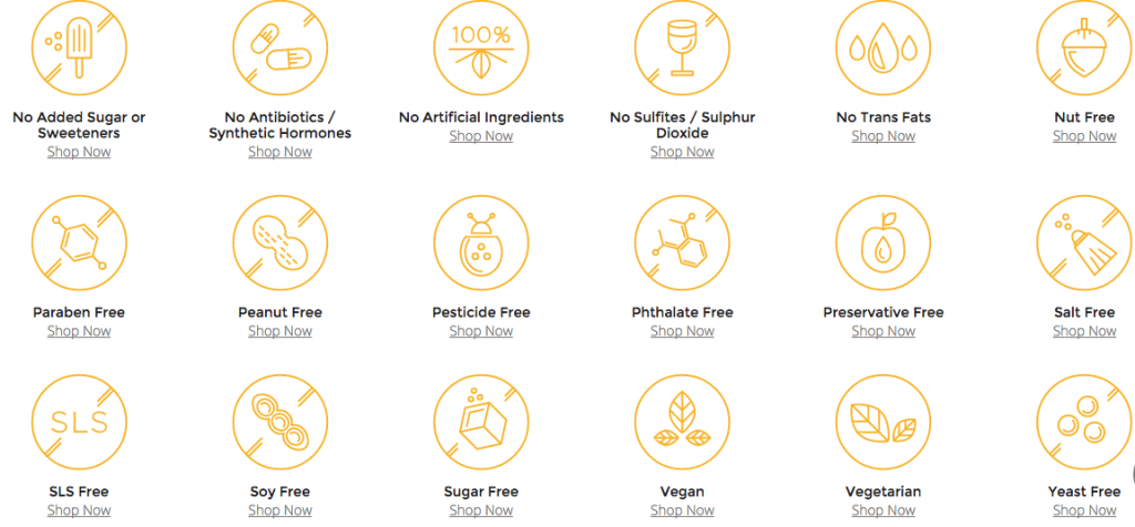 list of special food diets from thrive market