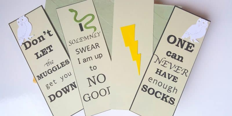 FREE Harry Potter Bookmarks Book Quotes Inspired Printable