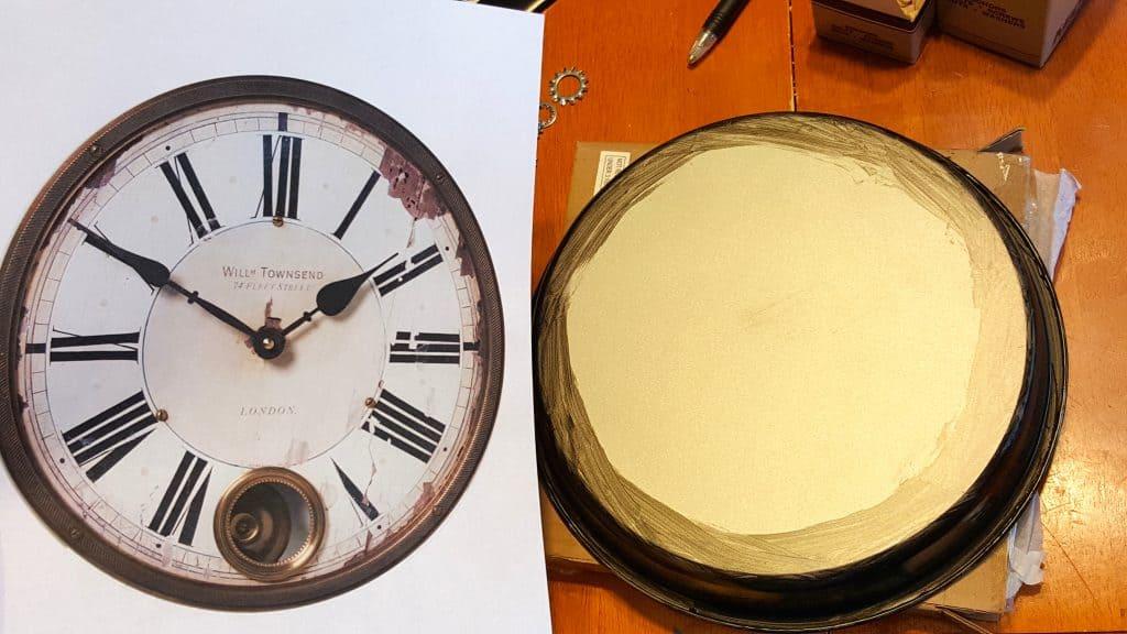 DIY Vintage Steampunk Inspired Home Clock Wall Decor