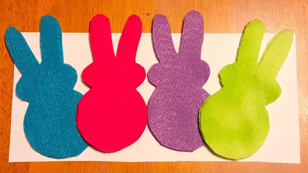 NO SEW Easter Bunny Felt Toys with Printable Template