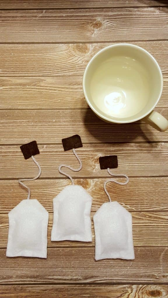 NO Sew Felt Tea Bags Kids Play