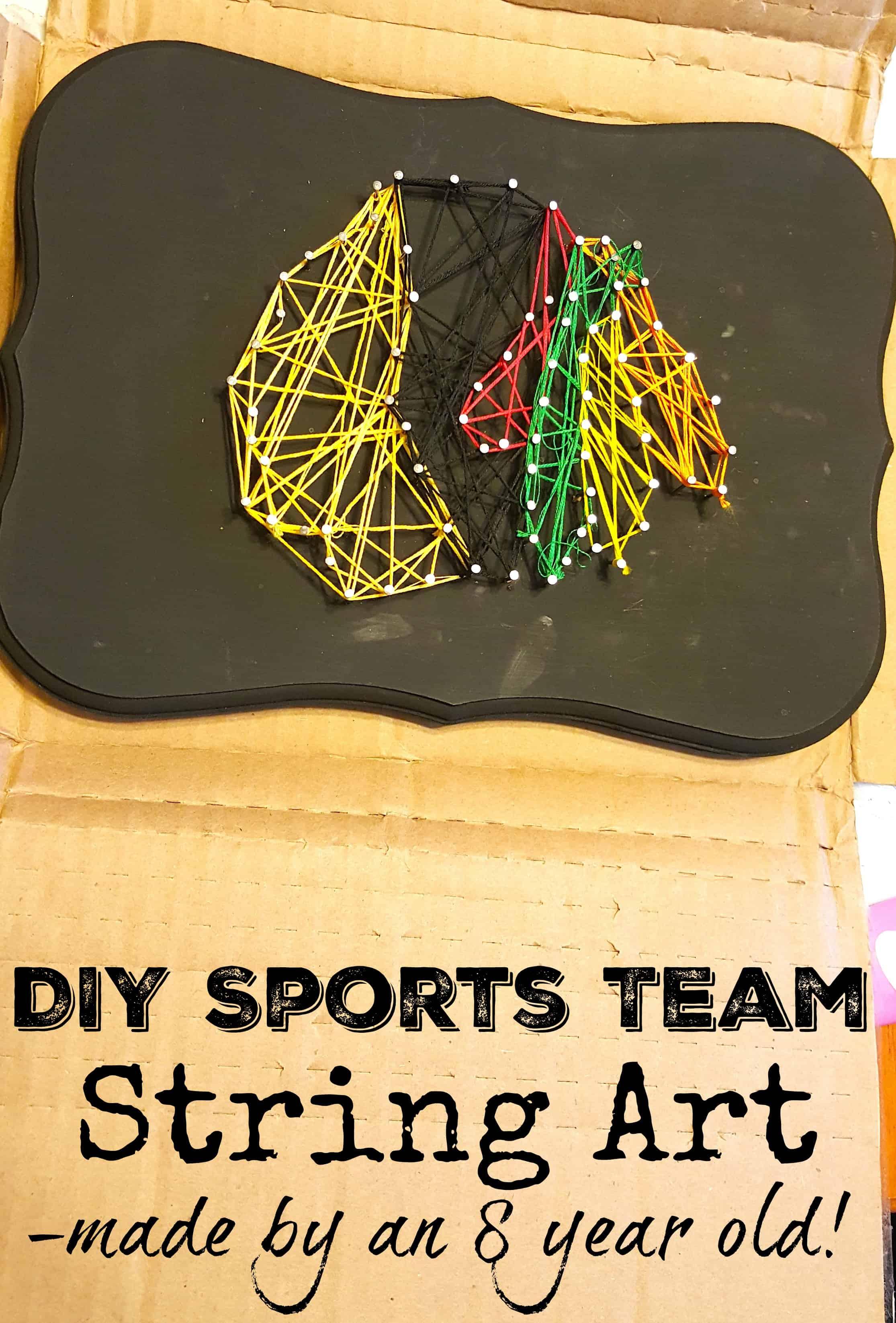 Classroom Ideas And Activities ~ Diy sports team string art craft chicago blackhawks