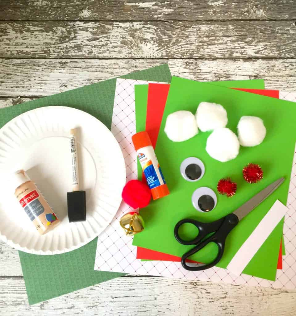 Christmas elf paper plate craft for kids for Waste material activity