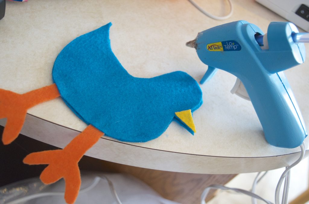 DIY No Sew Felt Pigeon Bird Pretend Play Toy Tutorial