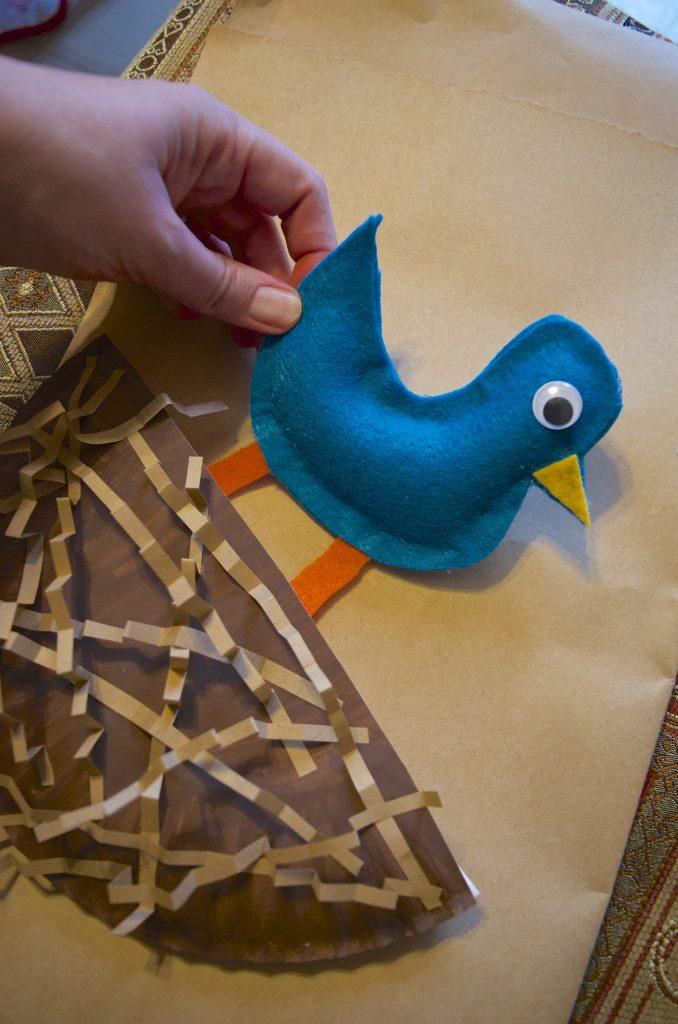 Bird's Nest Spring Paper Plate Craft for Kids