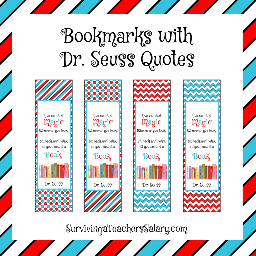 Preschool Teacher Quotes Drseuss Printable Reading Log Bookmarks And Award.