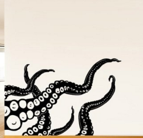 SWEET Octopus Wall Decal - Click for product!
