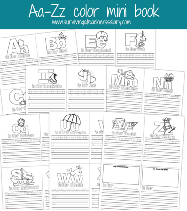 Alphabet Letters A - Z Printable Practice Book