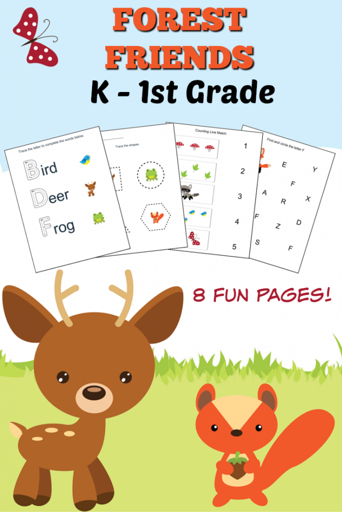 Woodlands Forest Friends Printable Preschool Set