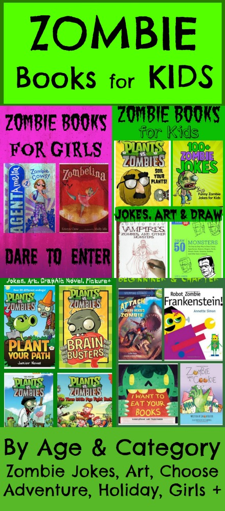 Zombie Books for Kids Categorized by age, type and theme