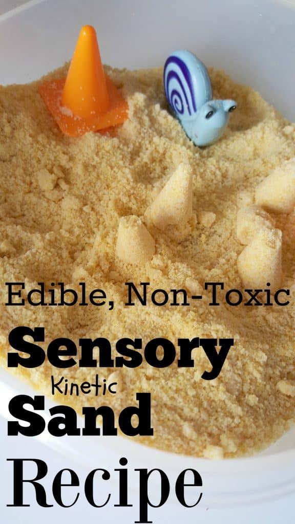 DIY Make Your Own Sensory Kinetic Sand Recipe