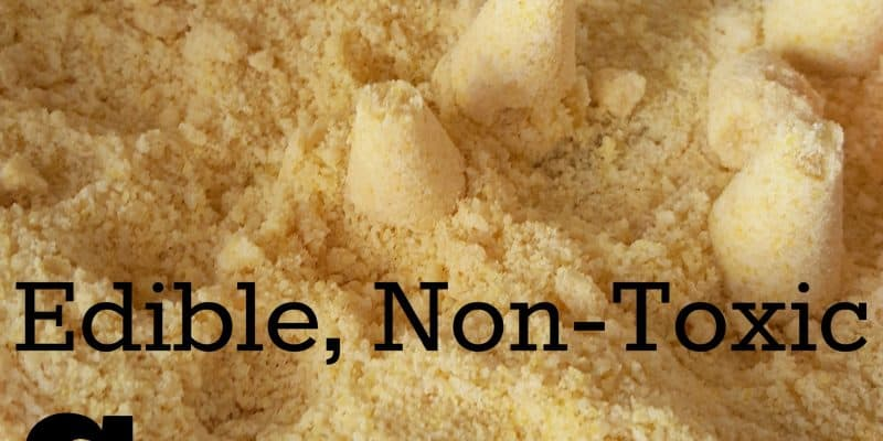 Edible Non Toxic Sensory Kinetic Sand Recipe for Kids