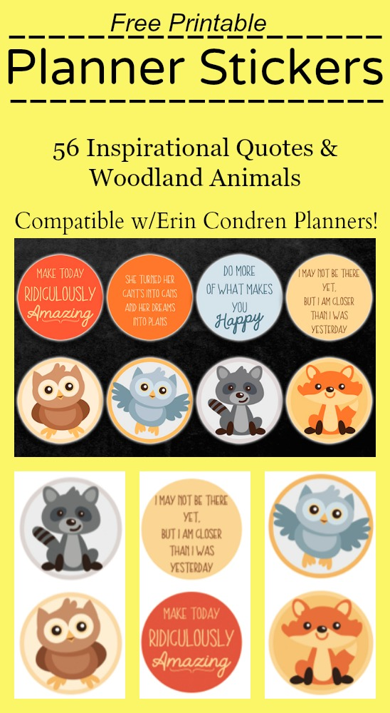 Free Printable Stickers for Erin Condren Planners