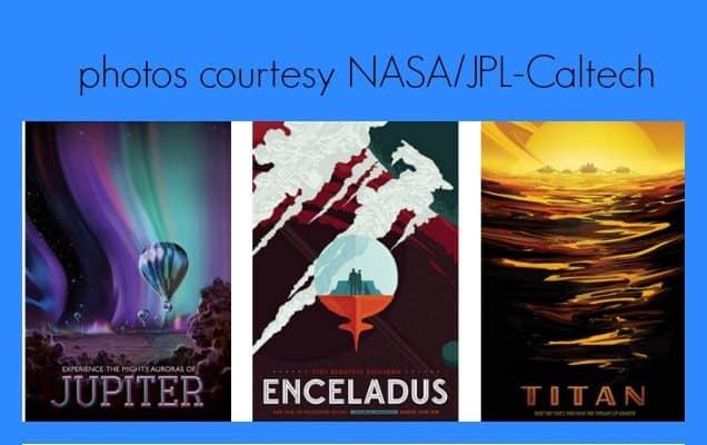 FREE Printable Retro Space Posters by NASA
