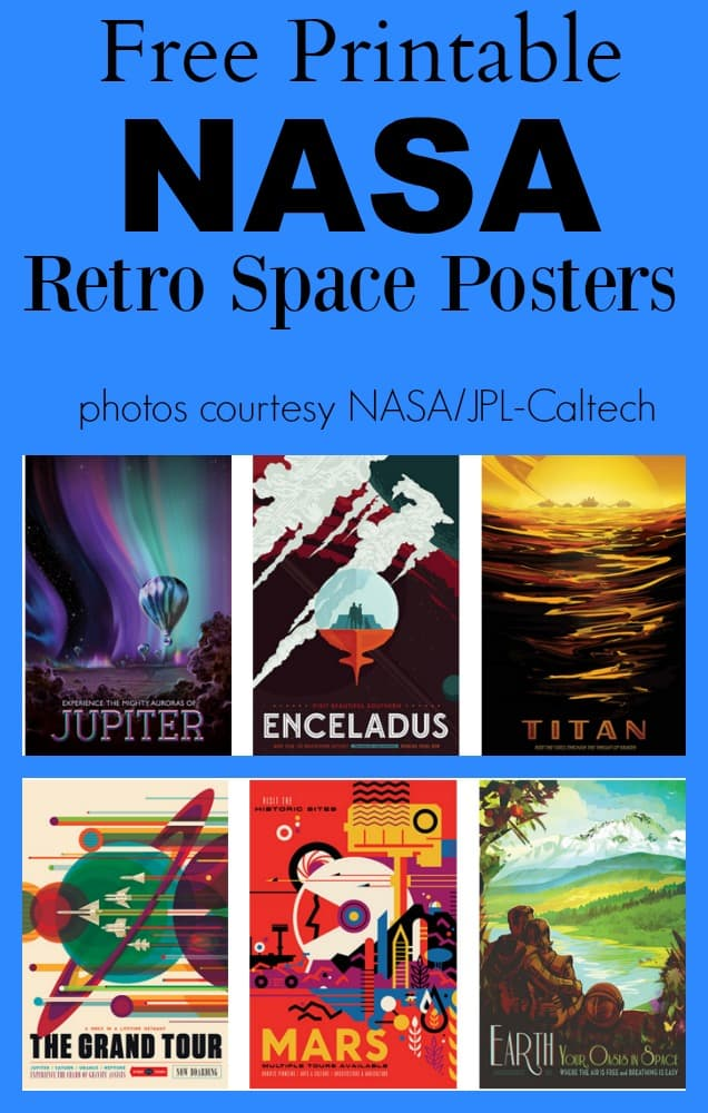 Free Printable NASA Retro Space Posters