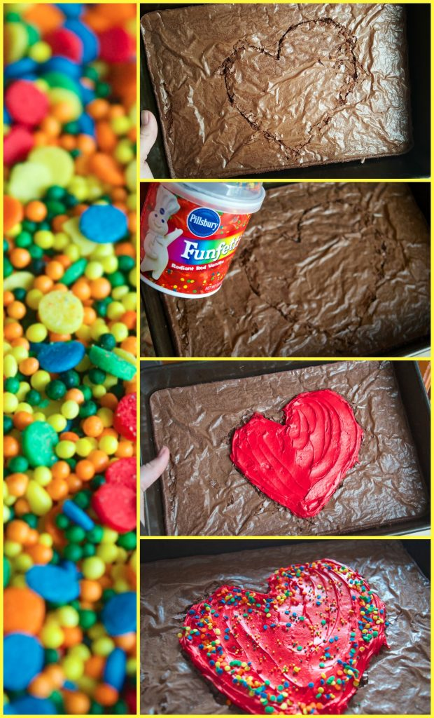 Pillsbury Step by Step Photo Tutorial Heart Brownie