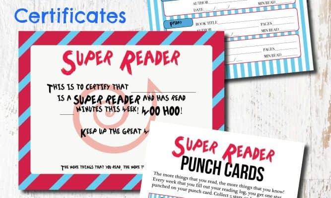 Dr. Seuss Printable READING Log, Bookmarks, and Award Certificates