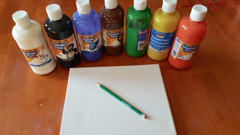 Great DIY Child us Handprint Keepsake Canvas Wall Art