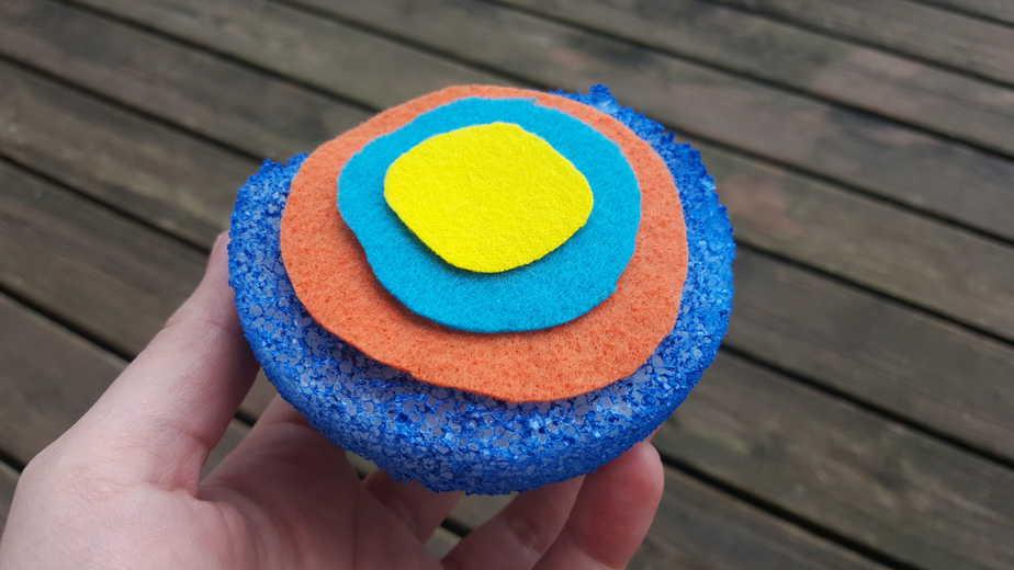 Foam ball craft - Layers Of The Earth Day Craft Foam Ball