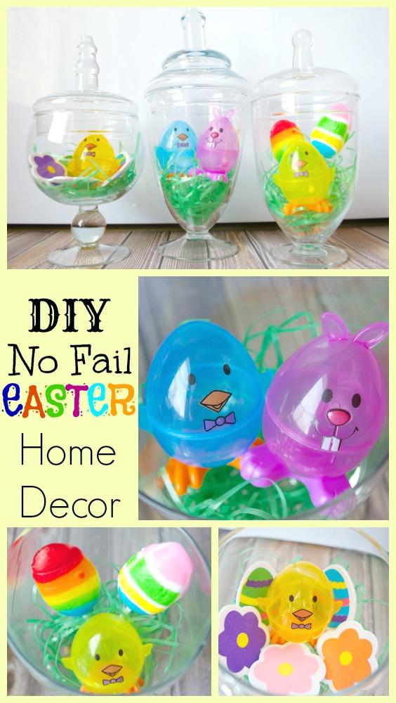 DIY No Fail Easter Home Decor Jars