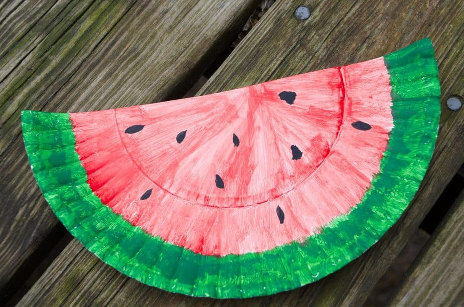 Watermelon Paper Plate Craft & 20+ Watermelon Recipes & DIY Activities