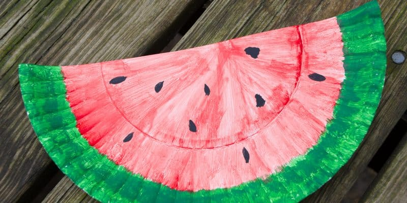 Watermelon Paper Plate Craft & 20+ Recipes & DIY Activities