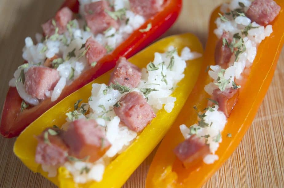Fiesta Stuffed Mini Peppers with Sausage Skillet Recipe