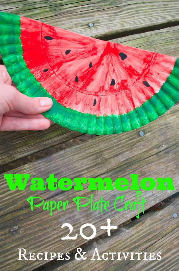 Craft a Paper Plate Watermelon Purse for Kids!