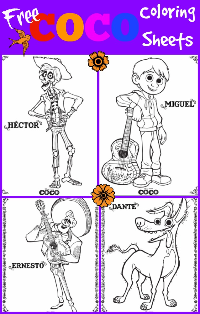 a special thanks to disney pixar animation studios for providing these free coco and finding dory coloring pages connect the dot activities and maze - Pixar Coloring Pages Finding Nemo