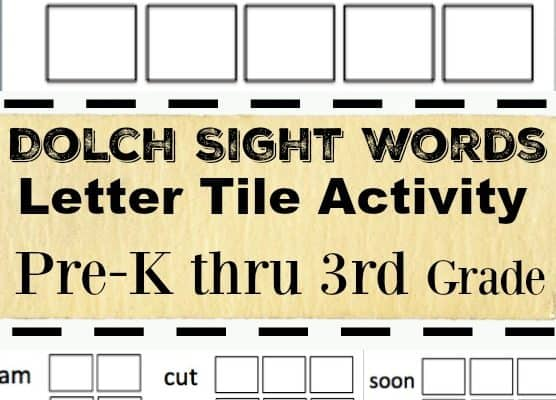 Pre-K to 3rd Grade Dolch Sight Words Activity Printable Worksheets