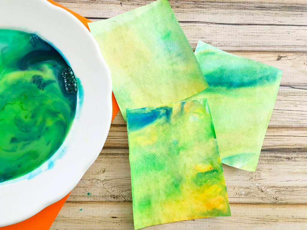 Painting with Marbled Milk Explosion Artwork