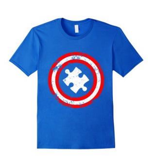 Captain America Autism Puzzle Piece Tshirt
