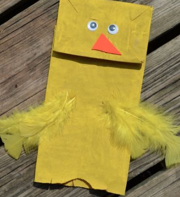 Farm Themed Brown Paper Bag Puppets for Preschool