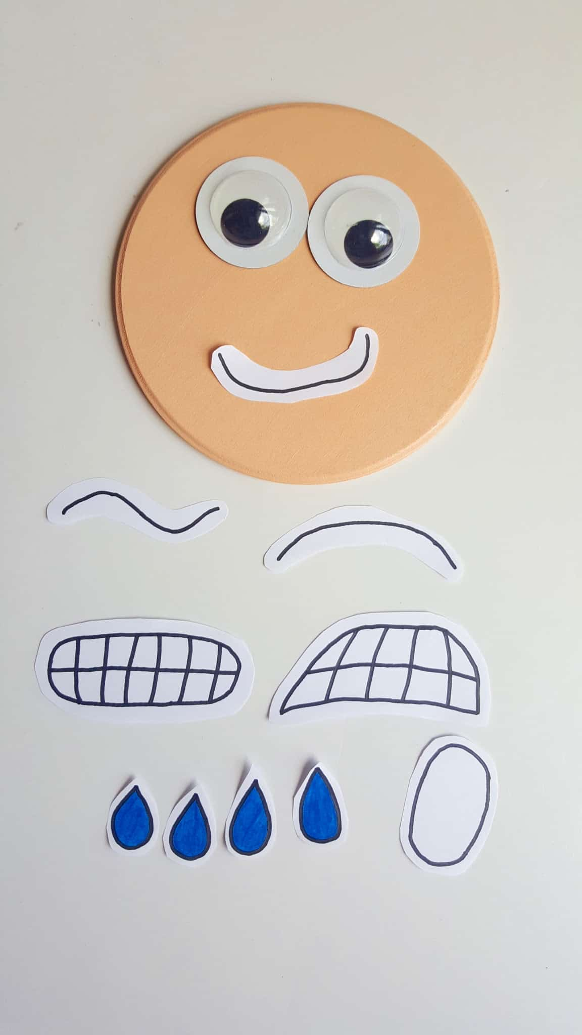 Old Fashioned image within printable emotion faces