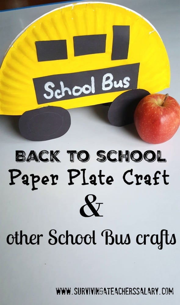 Back to School Bus Paper Plate Crafts for Kids
