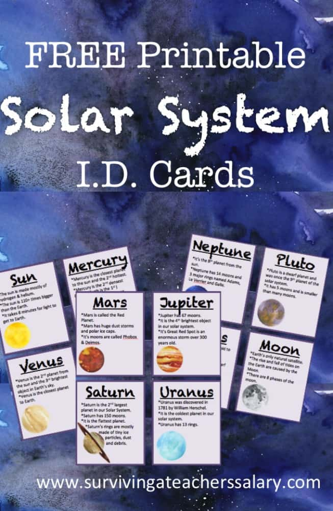 FREE Printable Solar System ID Flashcards
