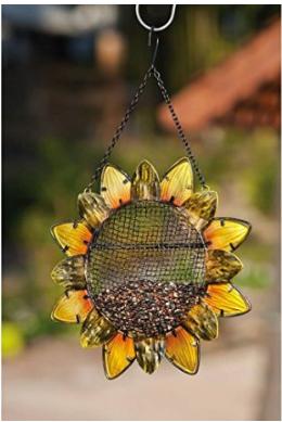 Metal Sunflower Bird Feeder