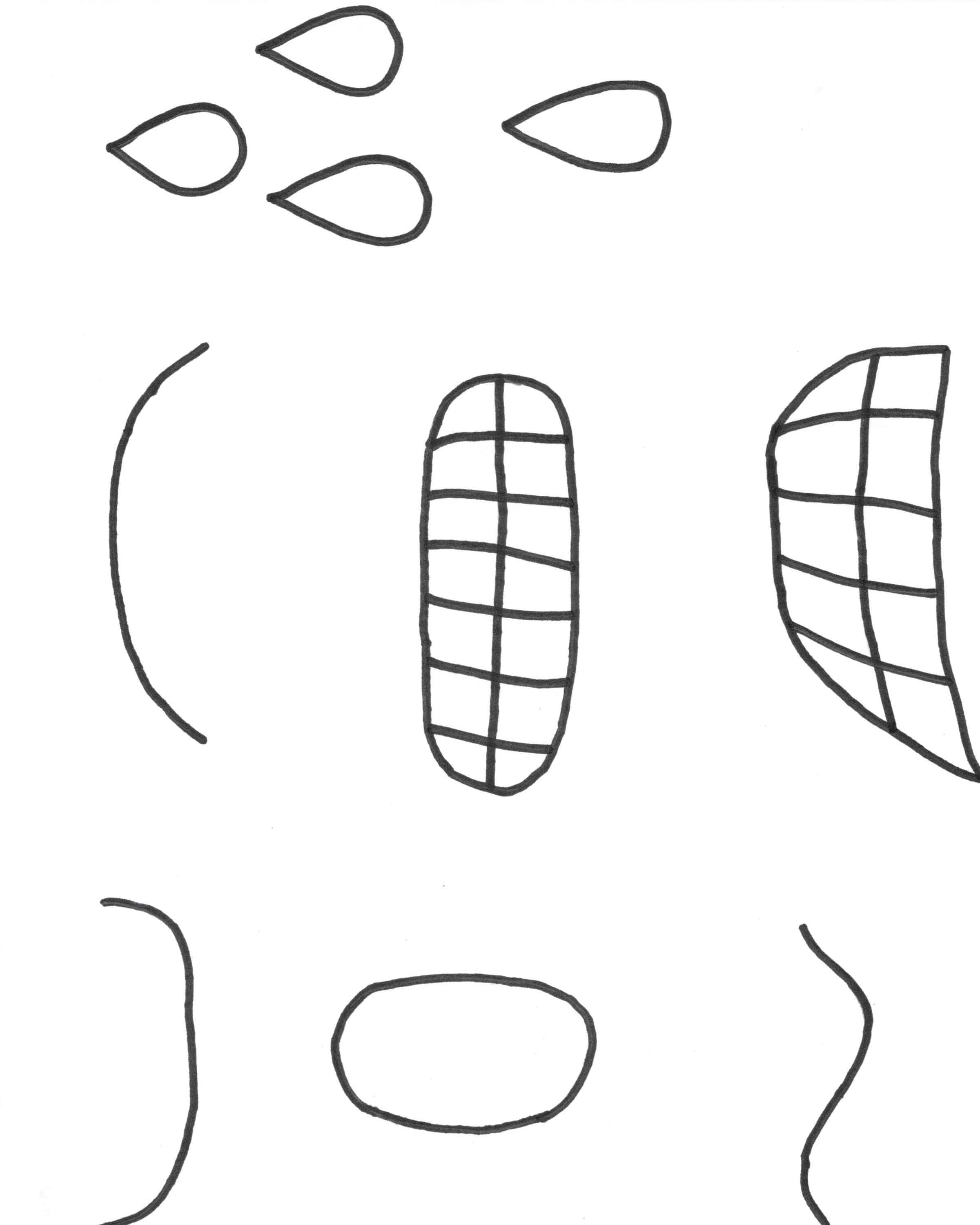 PRINT HERE Emotion Face Cutouts PDF
