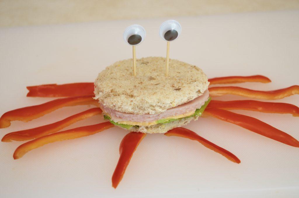 Crab Sandwich Ocean Friends at Lunch
