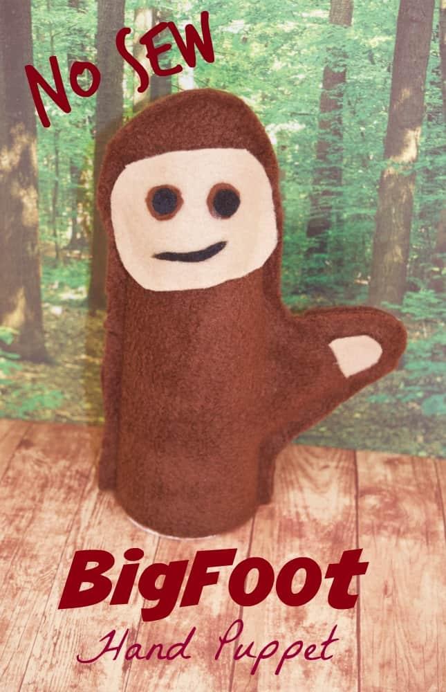 No Sew Bigfoot Hand Puppet
