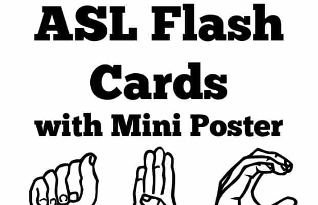 Free Printable ASL Alphabet Sign Language Flash Cards & Poster