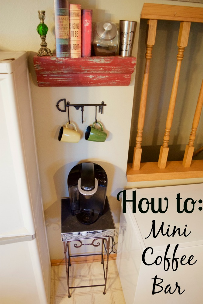 How to Mini Coffee Bar for Tiny Small Spaces