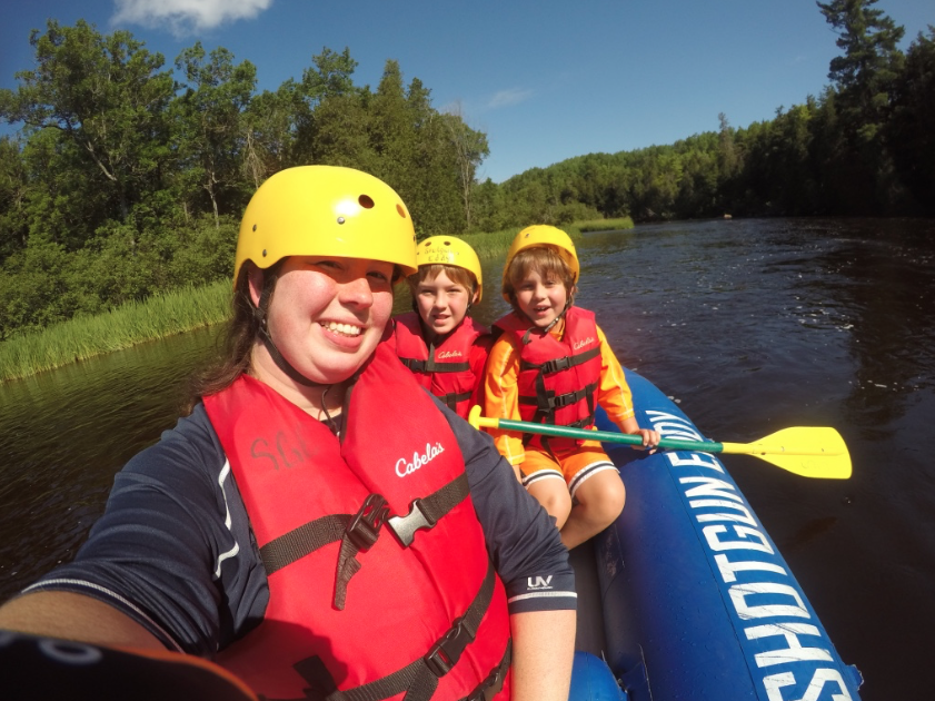 white water rafting with kids