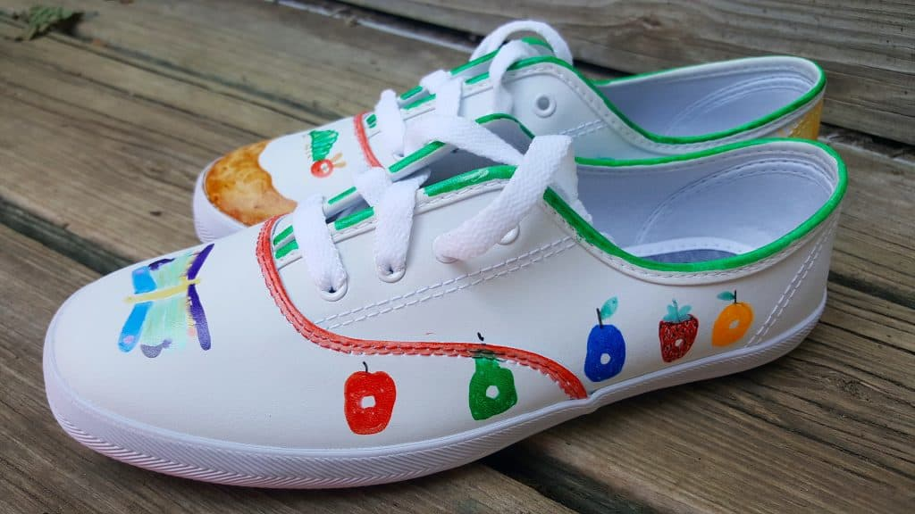 DIY The Very Hungry Caterpillar Shoes Tutorial