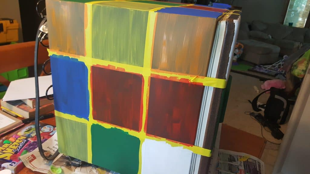 DIY Rubik's Cube Fridge Tutorial for Math Geeks