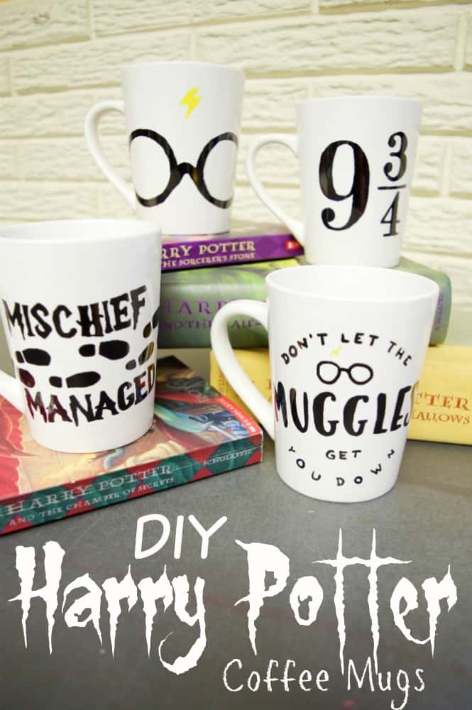DIY Harry Potter Coffee Mugs Tutorial