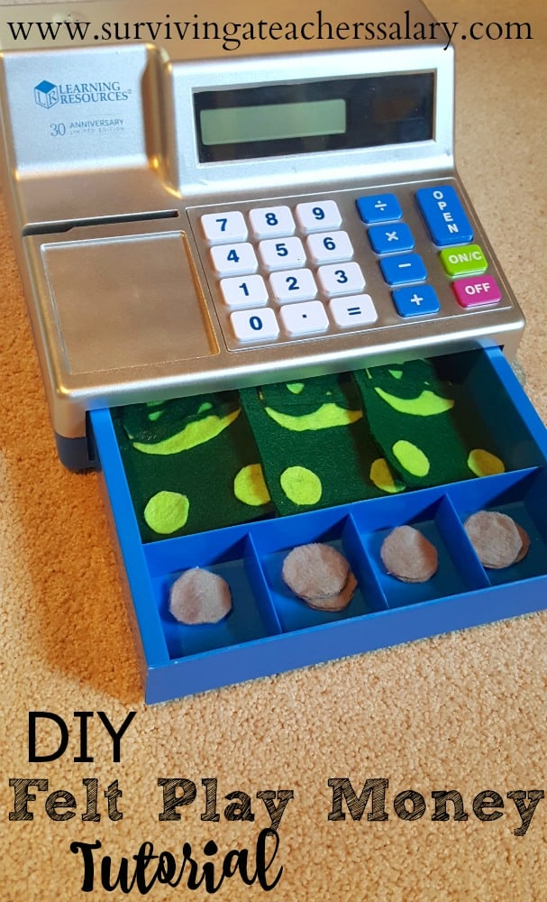 DIY No Sew Felt Play Money Tutorial
